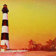 Bodie Island Lighthouse Sunset Poster