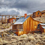 Bodie Stamp Mill, Sunrise With A Dusting Of Snow Poster