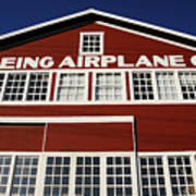 Boeing Airplane Hanger Number One Poster