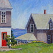 Bogdanov House Monhegan Poster by Thor Wickstrom