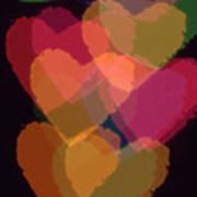 Bokeh Hearts 1 Poster