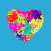 Bold Watercolor Heart - Tee Shirt Design Poster