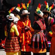 Bolivian Typical Costume Poster