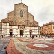 Bologna, Italy San Petronio Basilica Facade Crescentone Poster