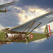 Bombers Farman 222 In Fighting Evening Flight. Poster