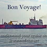 Bon Voyage Greeting Card - Enjoy Your Cruise Poster