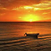Bonaire Sunset 4 Poster