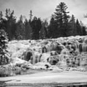 Bond Falls In Black And White Poster