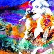 Bonnie Raitt Color Splash Poster