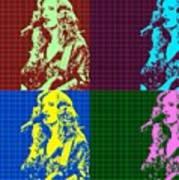 Bonnie Raitt Pop Art Poster Poster