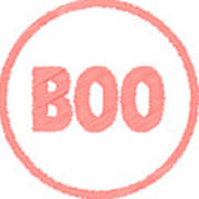 Boo Rubber Stamp Poster