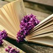 Book And Flower Poster