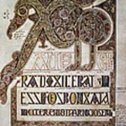 Book Of Lindisfarne Initial Poster