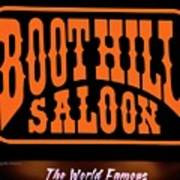 Boot Hill Saloon Sign Poster