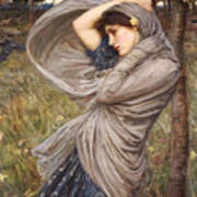 Boreas Poster by John William Waterhouse