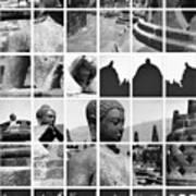 Borobudur In Frame Poster