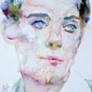Bosie - Lord Alfred Douglas - Watercolor Portrait Poster