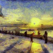 Bosphorus Sunset Art Poster