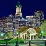 Boston Above Christopher Columbus Park Poster