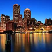 Boston Aglow Poster