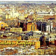 Boston Beantown Rooftops Digital Art Poster