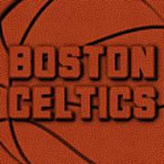 Boston Celtics Leather Art Poster