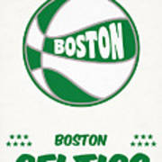 Boston Celtics Vintage Basketball Art Poster