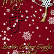 Boston College Eagles Christmas Card Poster