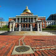 Boston Freedom Trail To State House Boston Ma Poster