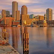 Boston Habor Sunrise Poster