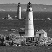Boston Light With Graves Light Poster