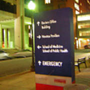 Boston Medical At Night Poster