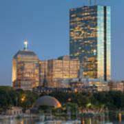 Boston Night Skyline Iv Poster