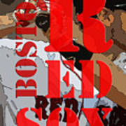 Boston Red Sox Original Typography  Poster