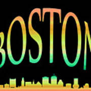 Boston Skyline 10 Poster