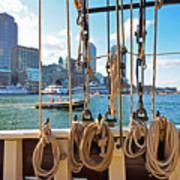 Boston Skyline From The Boston Harbor Poster