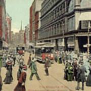 Boston: Washington Street Poster by Granger