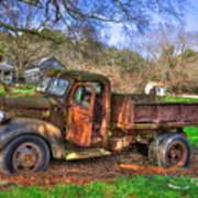 Boswell 1947 Dump Truck Farm Scene Poster