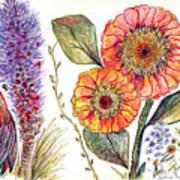 Botanical Flower-49 Poster