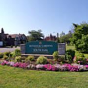Botanical Gardens Floral Landscaped Entrance  Poster