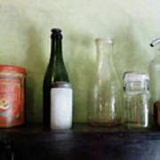Bottles And A Coffee Can Poster