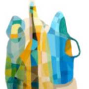 Bottles Still Life Poster