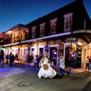 Boubon Bride - New Orleans Poster