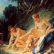 Boucher: Diana Bathing Poster