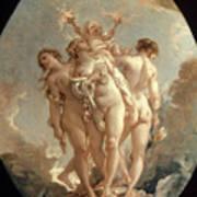 Boucher: Three Graces, 18 C Poster