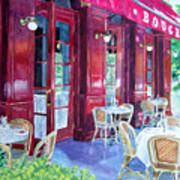 Bouchon Restaurant Outside Dining Poster