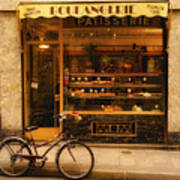 Boulangerie And Bike Poster by Mick Burkey