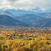 Boulder Colorado Autumn Scenic View Poster