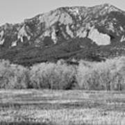 Boulder Colorado Flatiron View From Jay Rd Bw Poster