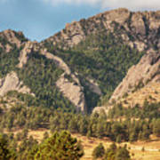 Boulder Colorado Rocky Mountain Foothills Poster